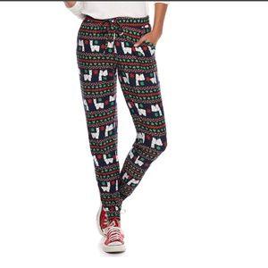 New llama christmas joggers